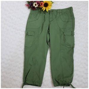 Cargo Style Capri Pants,  Size 12